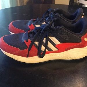 New 12 / Adidas Red White & Blue Tennis Shoes 👟❤️